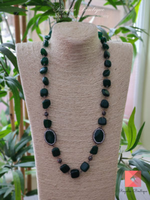 Semi-precious bead necklace
